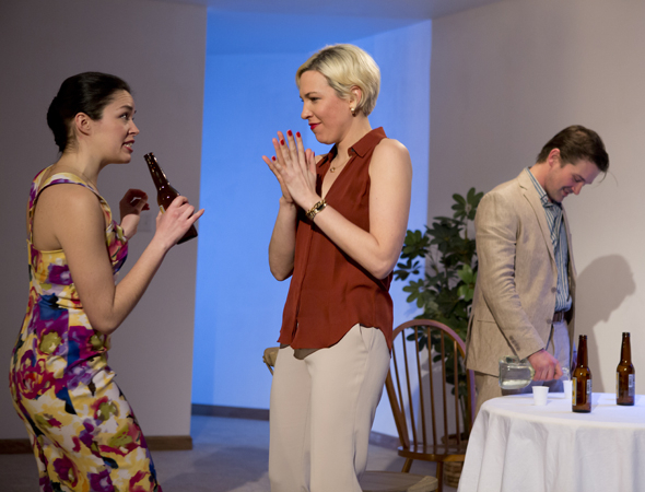 <p>Zoë Sophia Garcia, Rebecca Henderson, and Chris Stack share a scene together.</p><br />(© Jeremy Daniel)