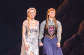 Caissie Levy and Patti Murin Take First Bows in Broadway's Frozen