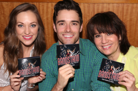 Laura Osnes, Corey Cott, and Cast of Bandstand Sign Original Cast Recording