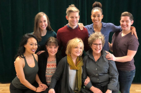 Andrew Keenan-Bolger and the Company of Kris Kringle the Musical Meet the Press