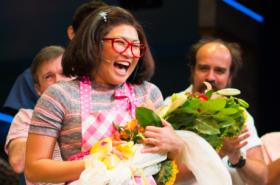 Jenna Ushkowitz Takes Her First Curtain Call in Broadway's Waitress