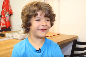 "Stranger Things' Gaten Matarazzo Shows His Broadway Chops Singing ""Bring Him Home"""