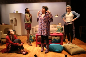 First Look at Lisa Lampanelli and the Cast of Stuffed Onstage