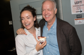 Olivia Wilde and Reed Birney Commemorate 101st Visit to Room 101