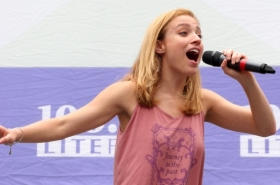 Christy Altomare, Derek Klena, Ariana DeBose, and More at Broadway in Bryant Park