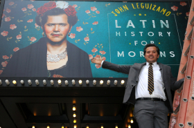 John Leguizamo Meets His Frida Kahlo-Inspired Broadway Marquee