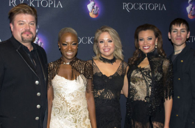 Broadway's Rocktopia Previews Show for the Press