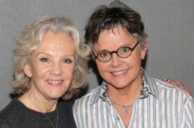 Hayley Mills and the Company of Party Face Meet the Press