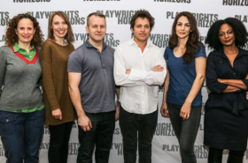 Annie Parisse and Stars of Anne Washburn's Antlia Pneumatica Meet the Press