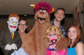 Avenue Q Receives a Portrait at the Palm Restaurant