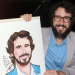 Josh Groban Gets a Sardi's Portrait