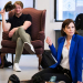 Elizabeth McGovern, Anna Camp, and Company Rehearse Time and the Conways