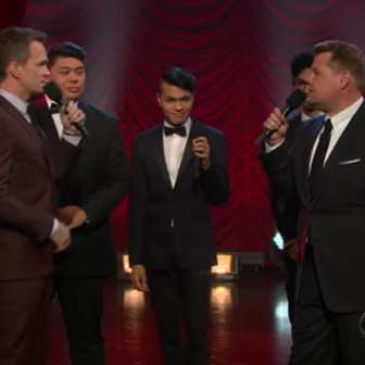 James Corden and Neil Patrick Harris Compete in a Broadway Riff-Off