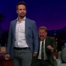 Lin-Manuel Miranda Breaks Out His Best Dance Moves on <em>The Late Late Show</em>