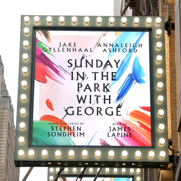 Marquee Filled With Color and Light for <em>Sunday in the Park</em> With Jake Gyllenhaal