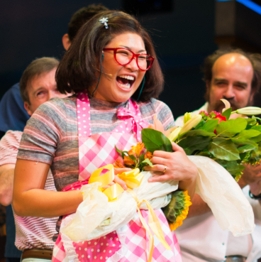 Jenna Ushkowitz Takes Her First Curtain Call in Broadway's <em>Waitress</em>