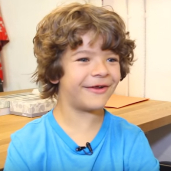 "<em>Stranger Things</em>' Gaten Matarazzo Shows His Broadway Chops Singing ""Bring Him Home"""