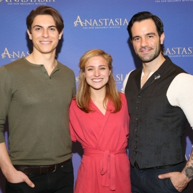Christy Altomare, Ramin Karimloo, Derek Klena, and Cast of <em>Anastasia</em> Meet the Press