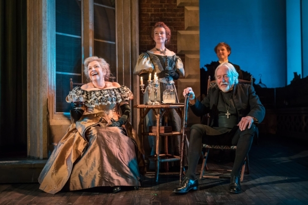 <p> Anne Reid as Lady Hunstanton with William Gaunt as Rev Daunby in <em>A Woman of No Importance</em></p><br />© Marc Brenner