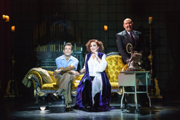<p> Danny Mac as Joe Gillis, Ria Jones as Norma Desmond and Adam Pearce as Max Von Meyerling in <em>Sunset Boulevard</em> </p><br />© Manuel Harlan