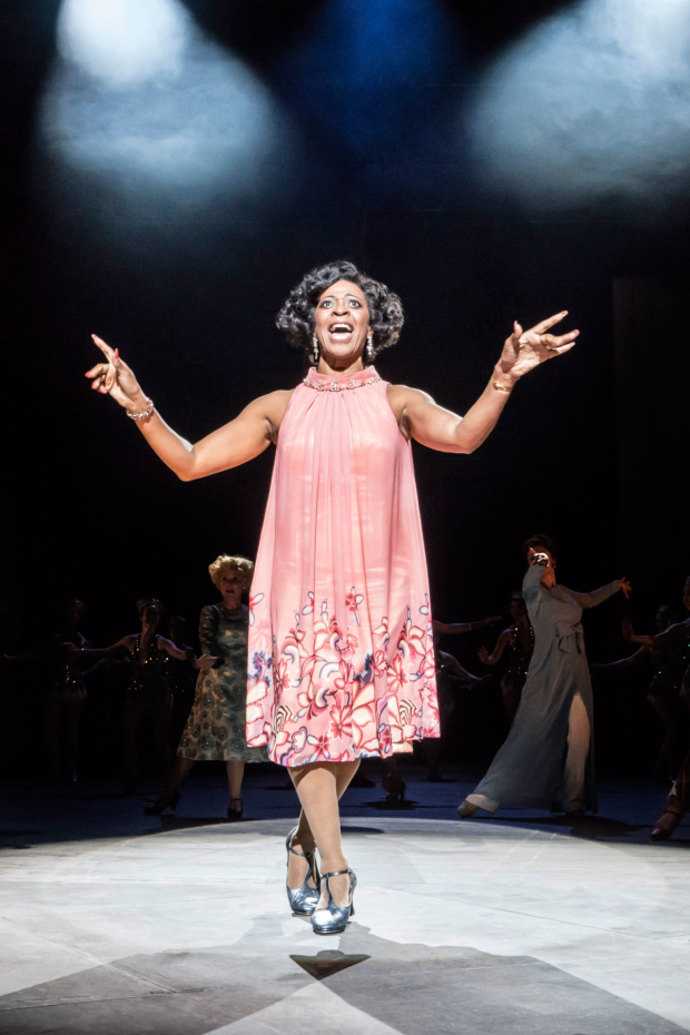 <p> Dawn Hope as Stella Deems in <em>Follies</em> at the National Theatre</p><br />© Johan Persson