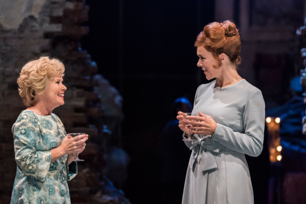<p> Imelda Staunton as Sally Durant Plummer and Janie Dee as Phyllis Rogers Stone in <em>Follies</em> at the National Theatre</p><br />© Johan Persson