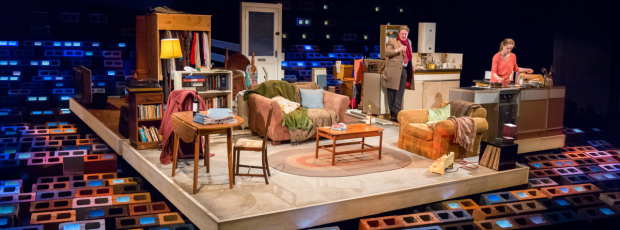 <p> Jay Villiers (Tom) and Jeany Spark (Kyra)  in <em>Skylight</em></p><br />© Mark Carline