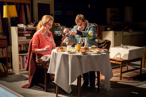 <p> Jeany Spark (Kyra) and Oscar Batterham (Edward) in <em>Skylight</em></p><br />© Mark Carline