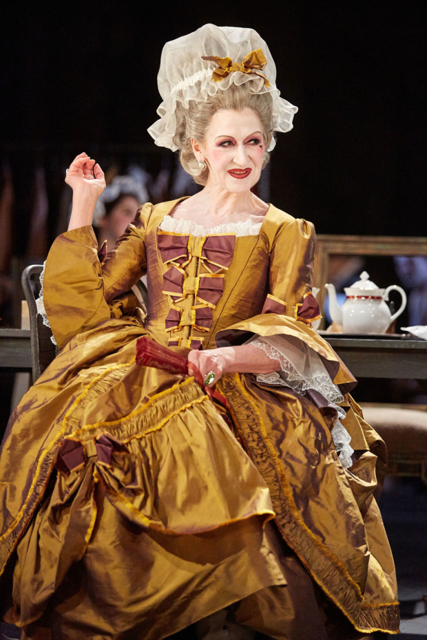 <p> Julie Legrand as Mrs Malaprop in The Rivals. </p><br />© Mark Douet