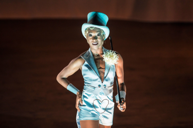 <p> Leisha Mollyneaux as Showgirl  in <em>Follies</em> at the National Theatre</p><br />© Johan Persson