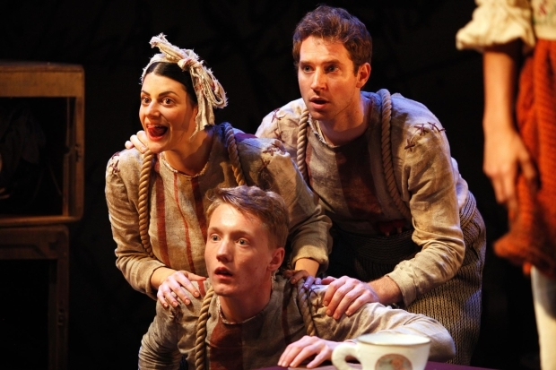 <p> L to R Natasha Karp, Frazer Hadfield and Ed MacArthur in <em>The Borrowers</em></p><br />© Philip Tull