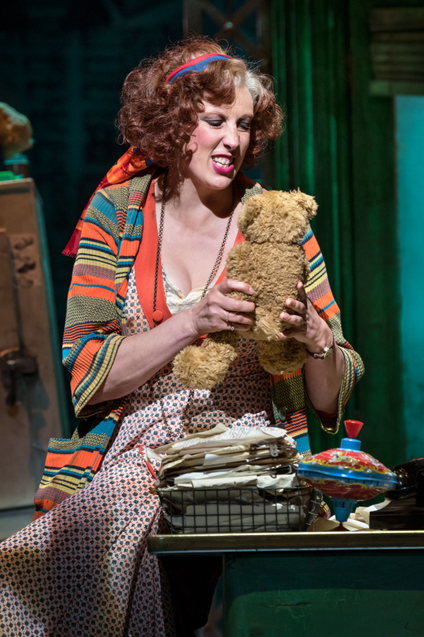 <p> Miranda Hart (Miss Hannigan)  in <em>Annie</em></p><br />© Paul Coltas
