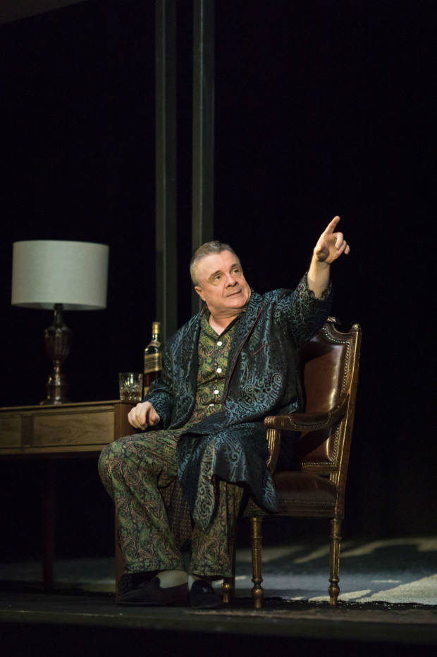 <p> Nathan Lane (Roy M Cohn) in <em>Angels in America - Millennium Approaches</em></p><br />(c) Helen Maybanks