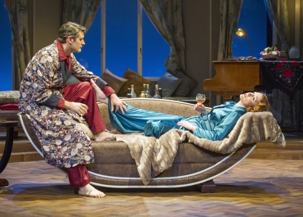 <p> Tom Chambers (Elyot Chase) &amp&#x3B; Laura Rogers (Amanda Prynne) in <em>Private Lives</em></p><br />©ALASTAIR MUIR