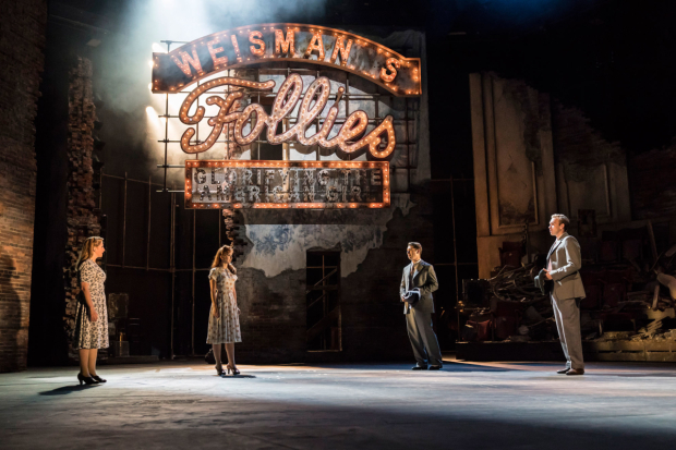 <p> Zizi Strallen as Young Phyllis, Alex Young as Young Sally, Fred Haig as Young Buddy and Adam Rhys-Charles as Young Ben in <em>Follies</em> at the National Theatre</p><br />© Johan Persson