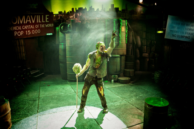 <p>Mark Anderson as Toxie </p><br />© Claire Bilyard