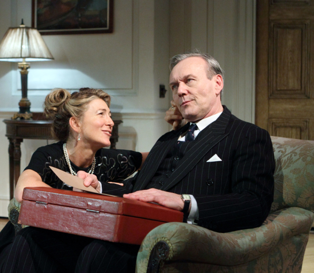 <p>Anthony Head (Sir John Fletcher) &amp&#x3B; Eve Best (Olivia Brown) in <em>Love in Idleness</em></p><br />© Catherine Ashmore
