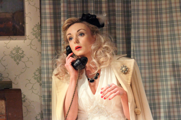 <p>Helen George (Diana Fletcher)  in <em>Love in Idleness</em></p><br />© Catherine Ashmore