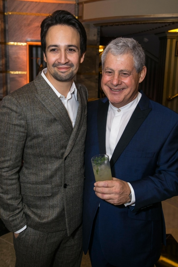 <p>Lin-Manuel Miranda (author/music/lyrics) and Cameron Mackintosh (producer)</p><br />© Dan Wooller for WhatsOnStage