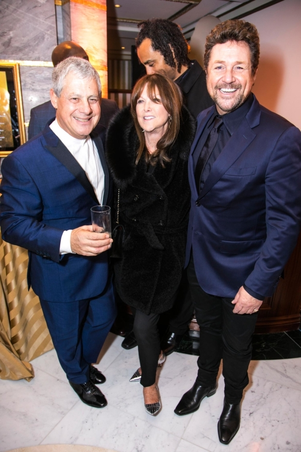 <p>Cameron Mackintosh (producer), Cathy Mcgowan and Michael Ball</p><br />© Dan Wooller for WhatsOnStage