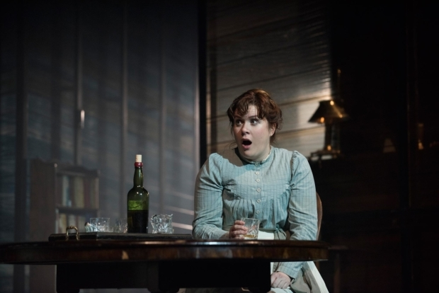 <p>Jessica Regan as Cathleen in <em>Long Day&#39&#x3B;s Journey Into Night</em></p><br />© Hugo Glendinning