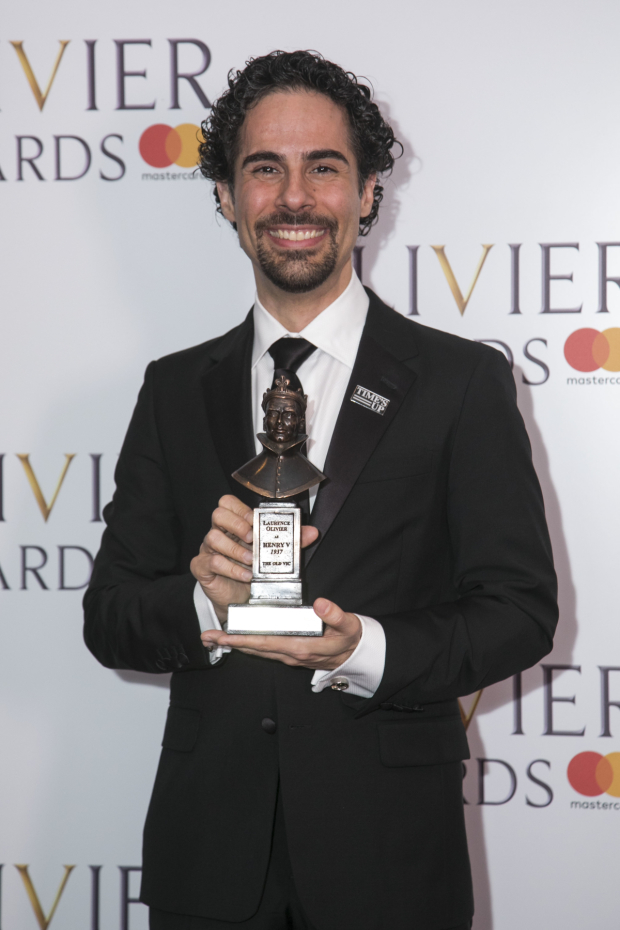 <p>Alex Lacamoire winner with Lin-Manuel Miranda for the Award for Outstanding Achievement</p><br />© Dan Wooller