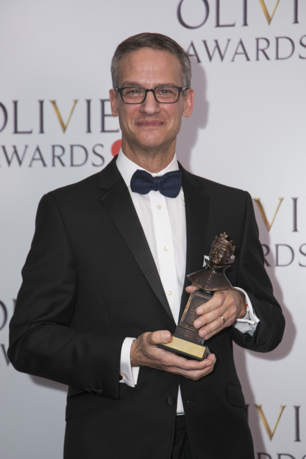 <p>Nevin Steinberg accepts the Award for Best Sound Design</p><br />© Dan Wooller