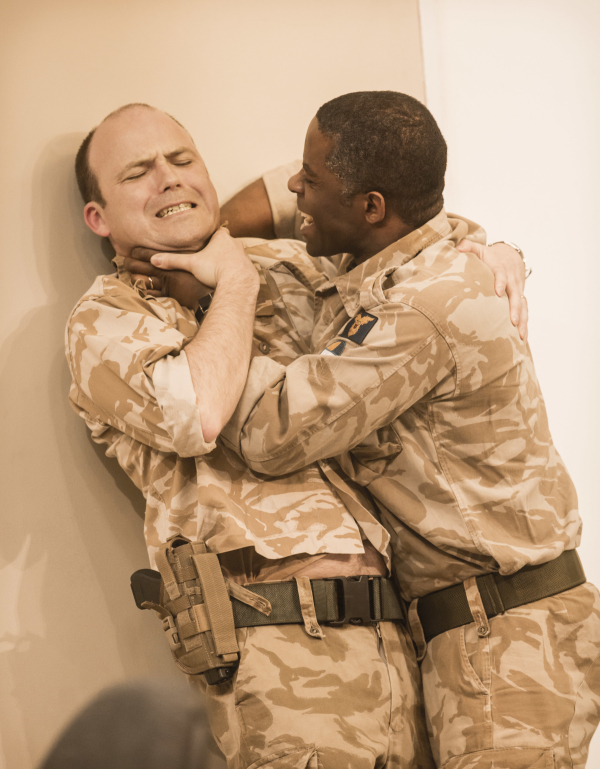 <p>2013: Rory Kinnear and Adrian Lester in <em>Othello</em></p><br />© Johan Persson