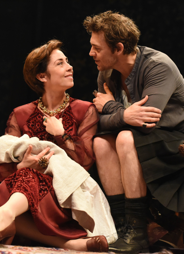 <p>2013: Sofie Grabol and Jamie Sives in <em>The James Plays</em></p><br />© Robert Day