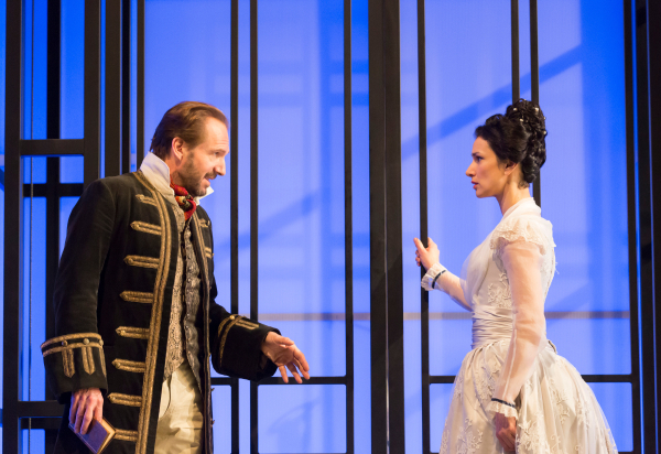 <p>2015: Ralph Fiennes and Indira Varma in <em>Man and Superman</em></p><br />© Johan Persson