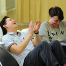 Rehearsal Pics: Lee Evans, Sheila Hancock & Keeley Hawes gear up for Barking in Essex