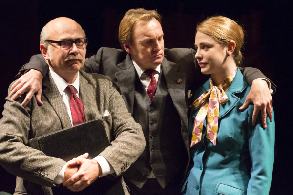 <p>2012: Vincent Franklin, Philip Glenister and Lauren O&#39&#x3B;Neil in <em>This House</em></p><br />© Johan Persson