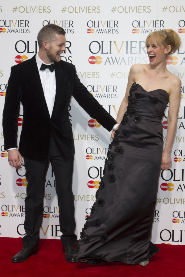 <p>Guest presenters Russell Tovey and Anne-Marie Duff</p><br />© Dan Wooller