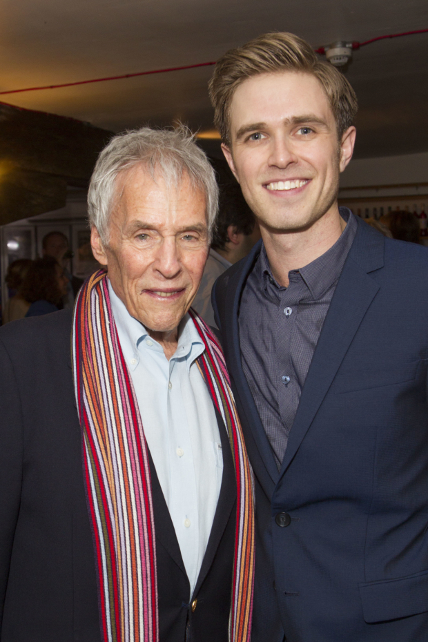 <p>Burt Bacharach and Kyle Riabko (cast)</p><br />© Dan Wooller for WhatsOnStage